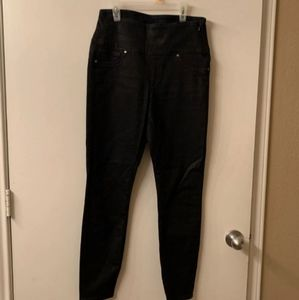 Spanx Black Waxed Jeans M